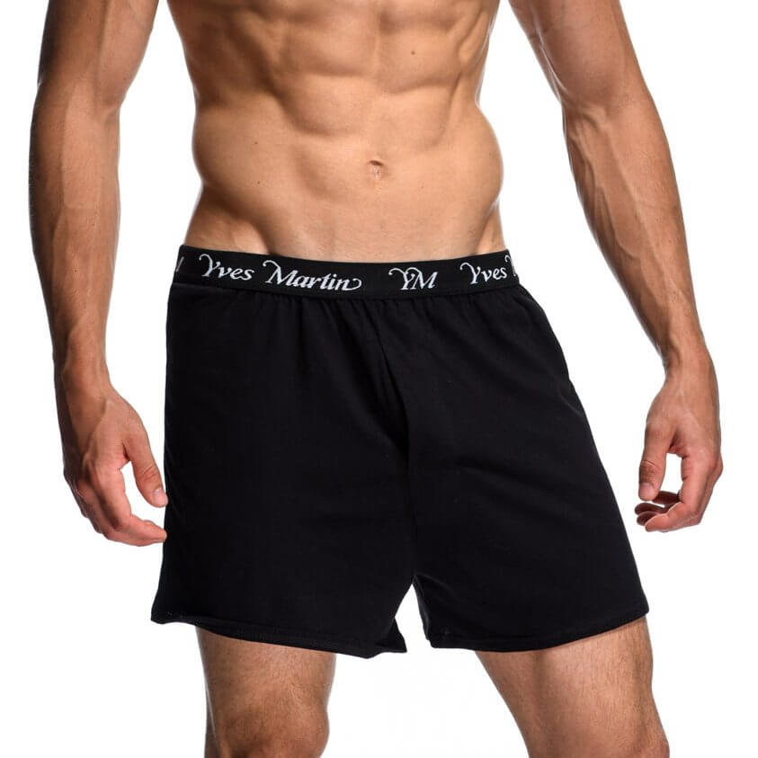 front-11233-17-Black-Noir-plain-boxer-men