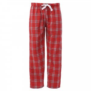 Unisex flannel pants in red