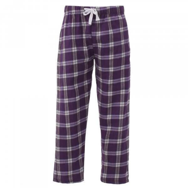 Unisex flannel pants in color purple